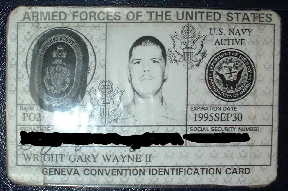 Military ID for Gary Wright II