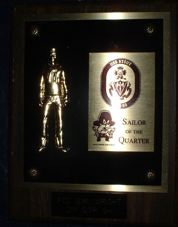 Gary Wright II awarded Sailor of the Quarter