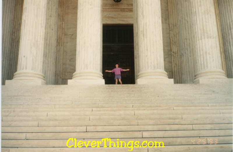 Gary Wright II on the steps of the US Supreme Court
